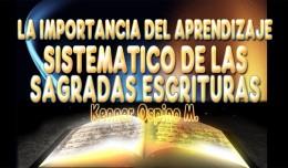 Estudio Sistemático de las Sagradas Escrituras