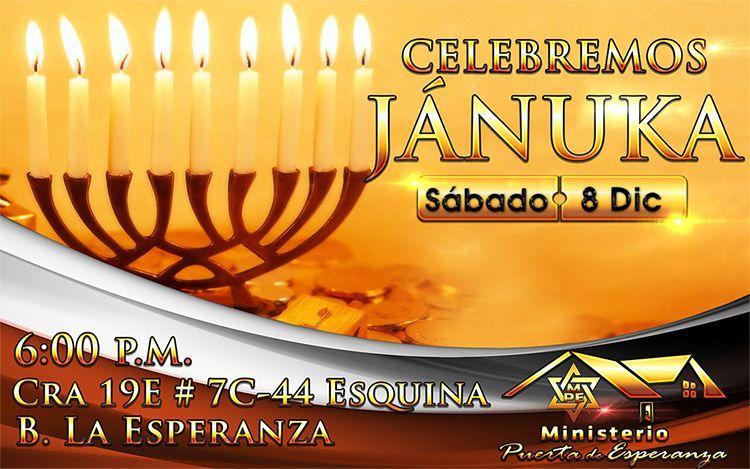 Ministerio Puerta de Esperanza celebra Jánuka
