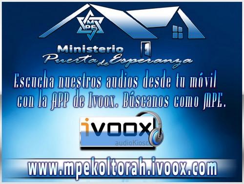 Entra a nuestro Canal de Audio en Ivoox.com