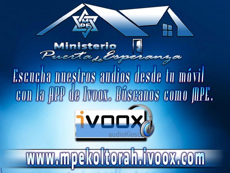 Escucha nuestros audios en nuestro Canal Ivoox