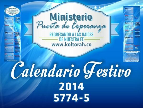 Calendario Festivo 5774