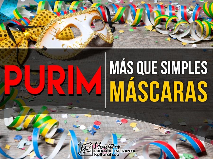 PURIM: Más que simples máscaras