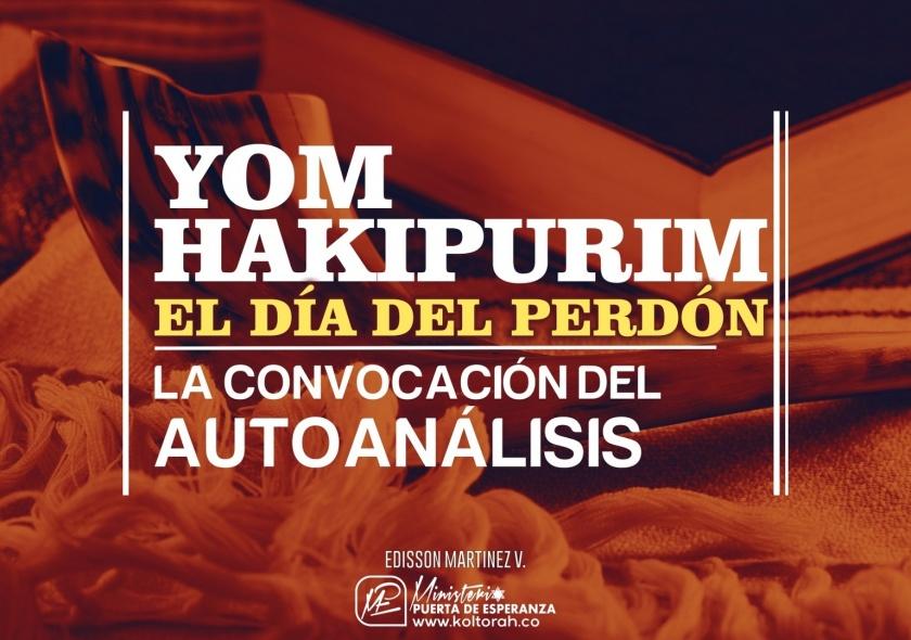 Yom HaKipurim: La convocación del autoanálisis | Edisson Martinez V. |